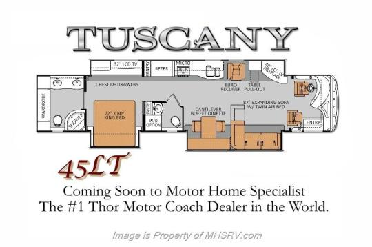 Thor Tuscany 2014 45LT Floorplan