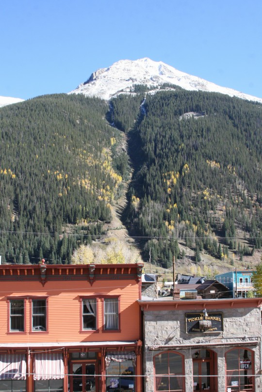 Silverton, CO is a charming little old-fashioned, frontier-like ski town with one paved road through the middle and many historic buildings from its gold-rush boom days.