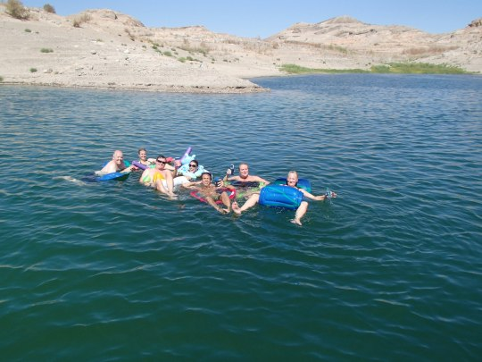 Floating on Lake Mead