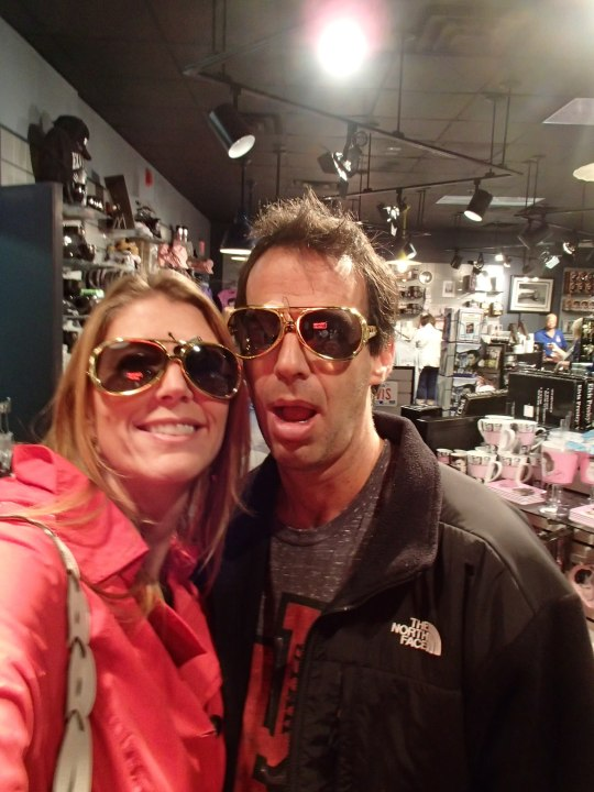 Val and Mitch mugging in Elvis shades
