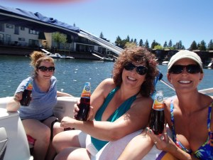 We rented a boat on Lake Tahoe with Val's dear friends from high school, Trish and JoAnn.