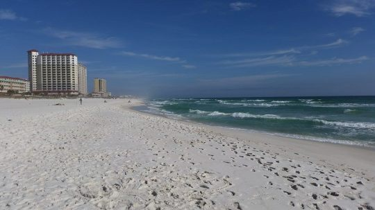 The white sands of Casino Beach, Pensacola.