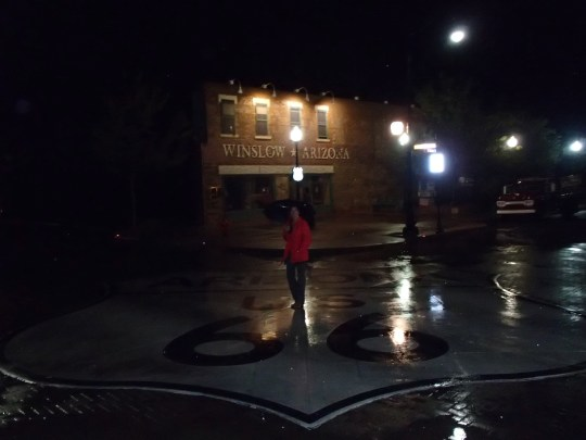 Standin' on the Corner (or in the middle of the intersection) in Winslow, AZ...a great curiosity stop in Route 66 history.