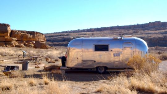 Vintage Airstreams hold a special nostalgic place in the imaginations of travel dreamers. But it isn't for us. No slide outs? No thanks. (c) Katie Arnold