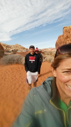 Valley of Fire with the boys. NV. Dec. 2014.
