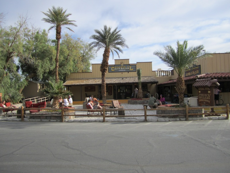 Furnace Creek Ranch Resort offers palm trees, old-west flair. and pool time in the winter.