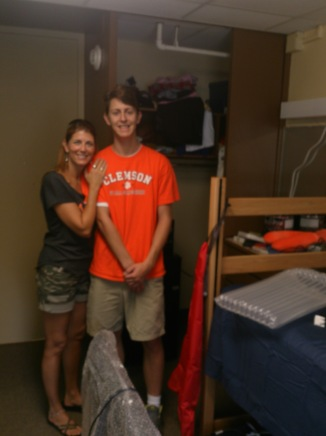 Go Tigers! Freshman move-in day at Clemson University in SC. Aug. 2014.