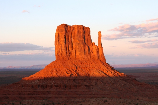 East Mitten at Sunset, Monument Valley, AZ. Oct. 2014.
