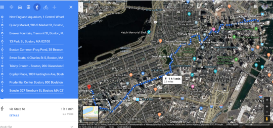 Boston Path map